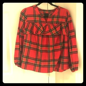 J. Crew Small Flannel Top